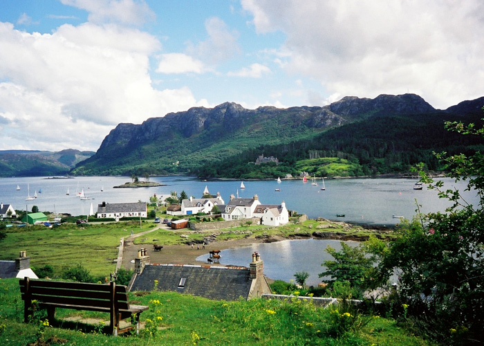 View across the loch. Plockton Holidays Scotland